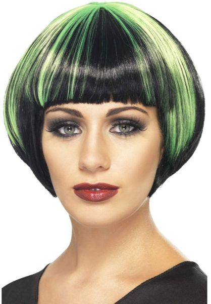 Quirky Bob with Green Streaks